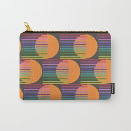 Tangerine Comet Rainbow Black Carry-All Pouch