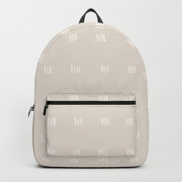 desert checks small – white Backpack