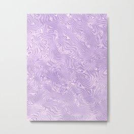 Lilac Silk Moire Pattern Metal Print