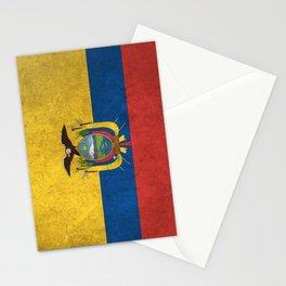 Ecuador Flag (Vintage / Distressed) Stationery Cards