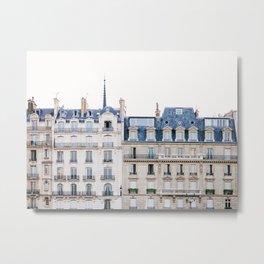 Tres Paris - Travel, Architecture Photography Metal Print