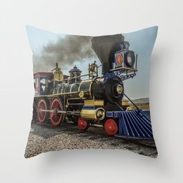 Central Pacific Railroad Jupiter at Golden Spike National Historic Site Utah Transcontinental Throw Pillow