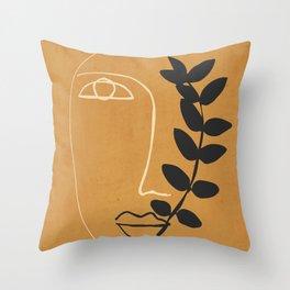 Abstract Face 5/7 Throw Pillow