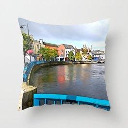 Irish Charm in Sligo Town Throw Pillow