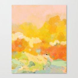 abstract spring sun Canvas Print
