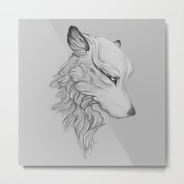 Wolf gaze Metal Print