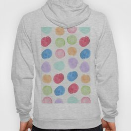 Colorful trendy colors large watercolor polka dots Hoody