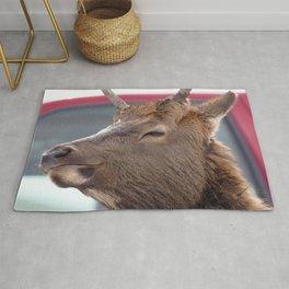 Watercolor Elk Juvenile 01, Estes Park, Colorado, Me and My Cool Ride Rug