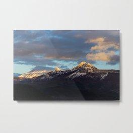 Sunset of Provence Metal Print
