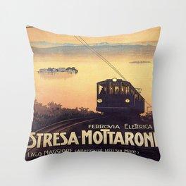 Stresa-Mottarone Throw Pillow