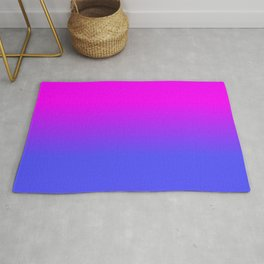 Neon Blue and Hot Pink Ombré Shade Color Fade Rug