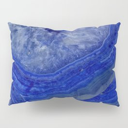 deep blue agate with peach background Pillow Sham