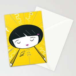 Sunny Sweet Girl G Stationery Cards