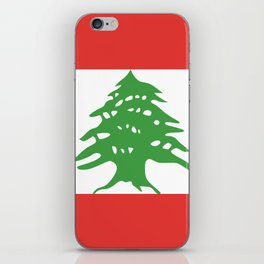 Lebanon flag emblem iPhone Skin