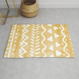 Loose bohemian pattern - yellow Rug