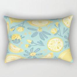 Lemon Pattern Mint Rectangular Pillow