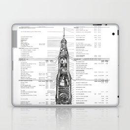 Apollo 11 Saturn V Blueprint in High Resolution (white) Laptop & iPad Skin