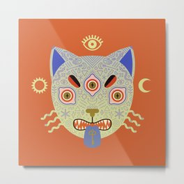 Mystic Cat Metal Print