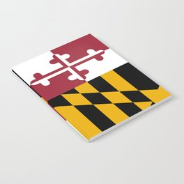 State flag of Flag Maryland Notebook
