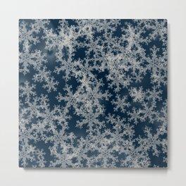 Deep Blue Snow Metal Print