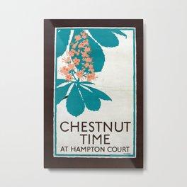 Chestnut Time Vintage Travel Poster Metal Print