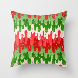 Christmas Slime Throw Pillow