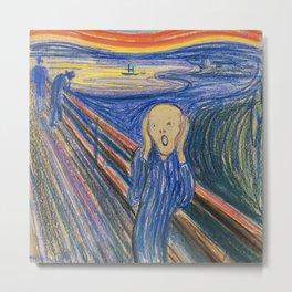 "Edvard Munch ""The Scream"" (1895)(pastel) Metal Print"