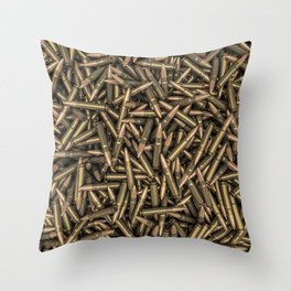 Rifle bullets Throw Pillow