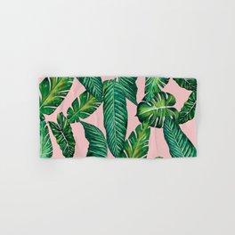 Jungle Leaves, Banana, Monstera II Pink #society6 Hand & Bath Towel