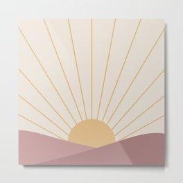 Morning Light - Pink Metal Print