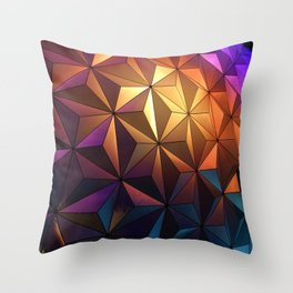 Rainbow Architecture Ball (Color) Throw Pillow