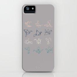 cranes version 1 iPhone Case
