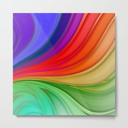 Abstract Rainbow Background Metal Print