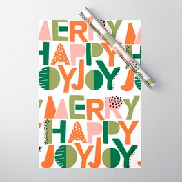 Merry Happy Joy Joy Wrapping Paper