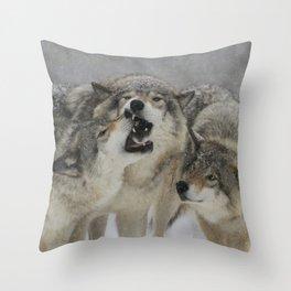 Family Squabble Throw Pillow