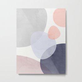 Pastel Shapes III Metal Print