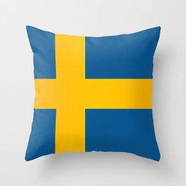 Flag of Sweden Throw Pillow