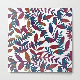 Watercolor branches - multicolor Metal Print