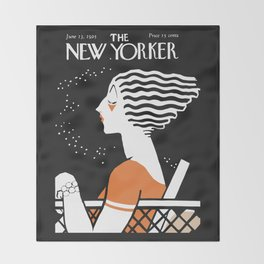 Vintage Magazine Cover, 1925 Artwork Reproduction Throw Blanket