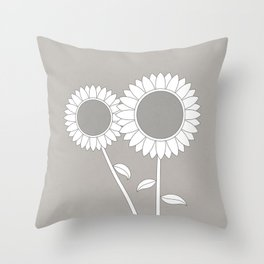 Simply Folk - Sunflowers Throw Pillow