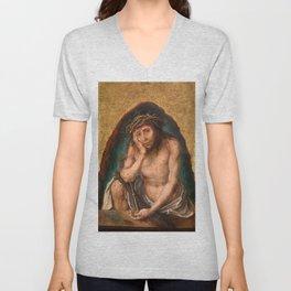 """Albrecht Dürer """"Man of Sorrows"""" Unisex V-Neck"""