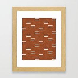 double dash - burnt orange Framed Art Print