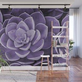 succulent Blossom violet color Wall Mural