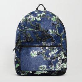 Vincent Van Gogh Almond Blossoms Dark Blue Rucksack