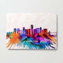 Hamilton Skyline Metal Print