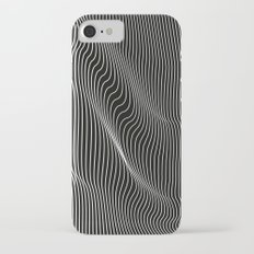 Minimal curves black iPhone 8 Slim Case