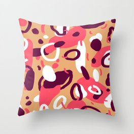 Terra blobs Throw Pillow