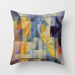 "Robert Delaunay ""Simultaneous Windows onto the City"" (1st Part, 2nd Motif, 1st Replica) Throw Pillow"