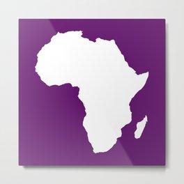 African Violet Audacious Africa Metal Print