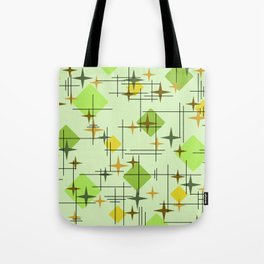 MidCentury Modern Pattern Chartreuse Citrus Tote Bag